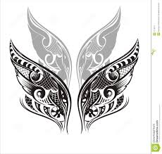 wings tattoo design stock vector image of ornament flower 7712277