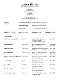 Film Resume Example by Sample Resume Template For Performance Arts With Stage And Film