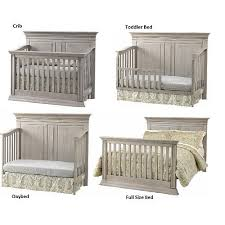 Baby Convertible Cribs Furniture Baby Cache Vienna 4 In 1 Convertible Crib Ash Gray Babiesrus