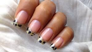 french tip fake nails with design how you can do it at home