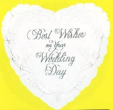 wedding greeting words wishes on your wedding day heart graphic