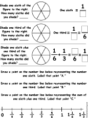 drawing and adding fractions printable worksheets