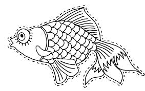 decoupage coloriage du poisson d u0027avril