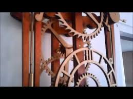 Free Wooden Clock Movement Plans by My First Wooden Mechanical Clock Youtube