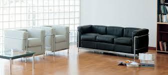 canape cuir le corbusier canapé lc2 le corbusier design reproductions de meubles