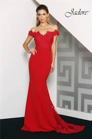 evening dress jade evening dress the shoulder and in ponte jersey and lace