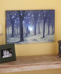 forest tree lighted canvas nature twinkling wall country