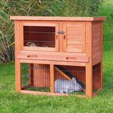 Rabbit Shack Hutch Trixie 1 Story Rabbit Hutch M Free Shipping Today Overstock