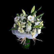 flower arrangements with lights clean white flowers bouquet with greenery in melbourne kellee flowers