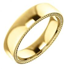 wedding ring designs for 14k yellow gold wheat design mens wedding band 14k yellow gold