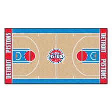 Entrance Runner Rugs Detroit Pistons Basketball Court Runner Rug Pistons Basketball