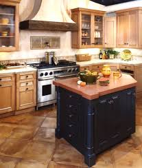 Two Toned Kitchen Cabinets by Light Brown And Black Wooden Cabinet Plus Kitchen Island Combined