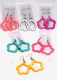 plastic earrings flower cut out earrings candy apple costumes
