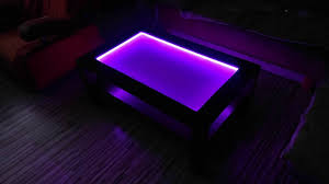 Coffee Tables With Led Lights Rgb Led Light Coffee Table