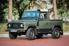 white land rover defender woodland pickup d90 tdi u2013 relic imports land rover defenders and