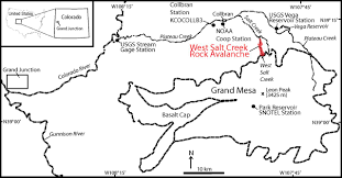Western Colorado Map by Rock Avalanche Dynamics Revealed By Large Scale Field Mapping And