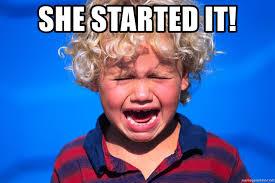 Meme Generator Crying - she started it crying kid alala meme generator