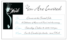 dinner email invitation