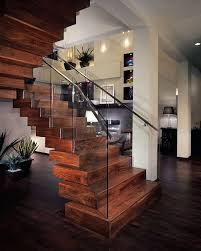 Glass Stair Handrail Contemporary Staircase With Glass Stair Railing By Lynn Shannon