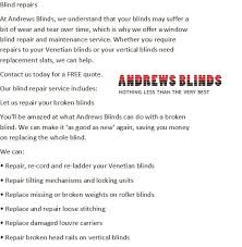 Window Blind Repairs Andrews Blinds Advertising Marketing Hartlepool 3 Reviews
