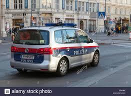 vw minivan 2015 vienna austria november 2 2015 vw touran 2015 as a police car