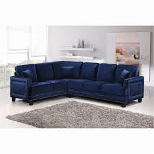 Navy Blue Sectional Sofa Navy Blue Velvet Sectional Sofa Comfortable And Unique Sofas