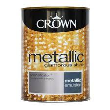 crown metallic emulsion paint sophistication 1 25l at wilko com