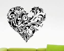 Heart Wall Stickers For Bedrooms Heart Wall Decal Etsy
