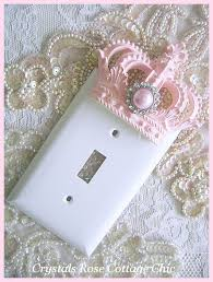 Shabby Chic Light Switch Covers by Pink Princess Crown Wall Plate Switch Plate Cover Light Switch