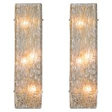 Glass Wall Sconce Pair Of Murano Glass Wall Sconces For Sale At 1stdibs