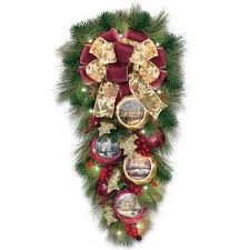 thomas kinkade christmas wreaths unique christmas decorations