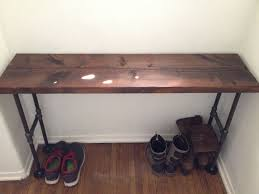 entryway table and bench easy modern black iron pipe bench entryway table