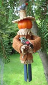 pumpkin scarecrow ornament by moderationcorner
