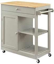 wood kitchen island cart yaheetech utility kitchen hollow cart wood kitchen