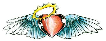 body art tattoos designs hearts with wings beauty gallery