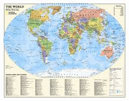 Political World Map National Geographic Maps Kids Political World Wall Map Grades 4