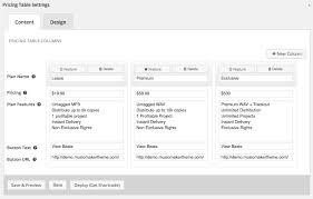 beat pricing table u2013 music maker wordpress theme help