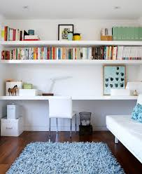 Open Home Office Home Office Floating Shelves Home Office Transitional With Open