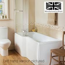 buy 1500mm l shape shower bath u0026 screen rh bathshop321