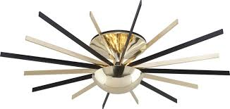 Brass Ceiling Fans With Lights by Troy C4254 Atomic Modern Polished Brass Matte Black Led Ceiling