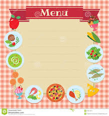 vector restaurant vintage menu card design template stock vector