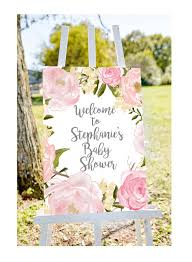 baby shower signs baby shower welcome sign welcome to baby shower sign pastel