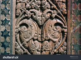 beautiful wood carving on ancient door stock photo 564182560
