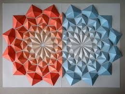 Origami Paper Works - origami mosaics low relief paper sculptures by kota hiratsuka