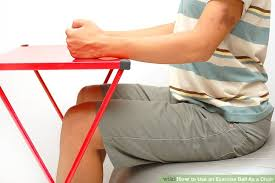 Balance Ball Chair With Arms How To Use An Exercise Ball As A Chair 9 Steps With Pictures