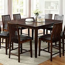 amazon counter height table amazon com montego transitional style walnut finish 9 piece