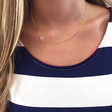 necklace with initial images Sideways initial necklace silver initial gold chain i love jpg