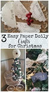 Retro Paper Christmas Decorations - 3 easy vintage paper doily crafts for christmas paper doily