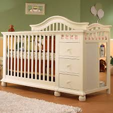 White Crib And Changing Table Sorelle Capecod Crib Changer With Toddler Rail White