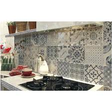 Cuisine Carreau De Ciment Carreaux Credence Cuisine Imitation Carrelage Decor Apartments Inside Kitchen